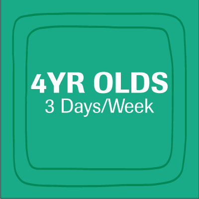 4 YEAR OLD - 3 DAYS A WEEK